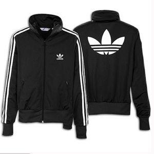 RARE Adidas Originals Black 3-stripe Zip Sweater